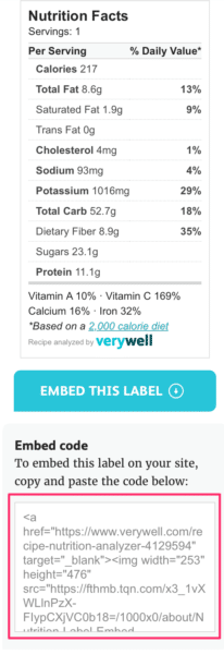 Easy Way To Generate Nutrition Data For