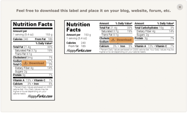 Easy Way To Generate Nutrition Data For Your Recipe For Free